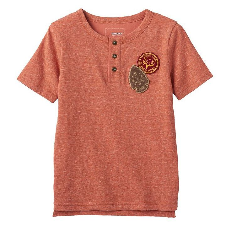 Boys 4-7x SONOMA Goods for Life™ Patched High-Low Henley Tee,