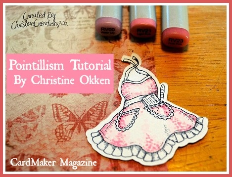 If you love pointillism and Copic® markers, you won't want to miss this free Pointillism Tutorial from CardMaker blog team member Christine Okken. It covers background and main image coloring.