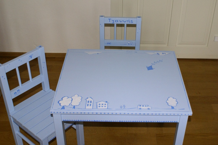 one of our tables! available in many colours!