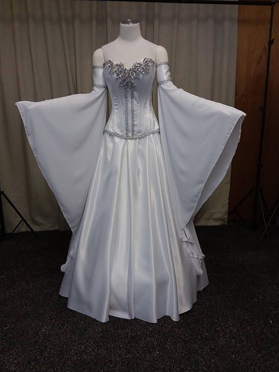 d7b1cc20afd Elven Wedding dress medieval dress handfasting white and