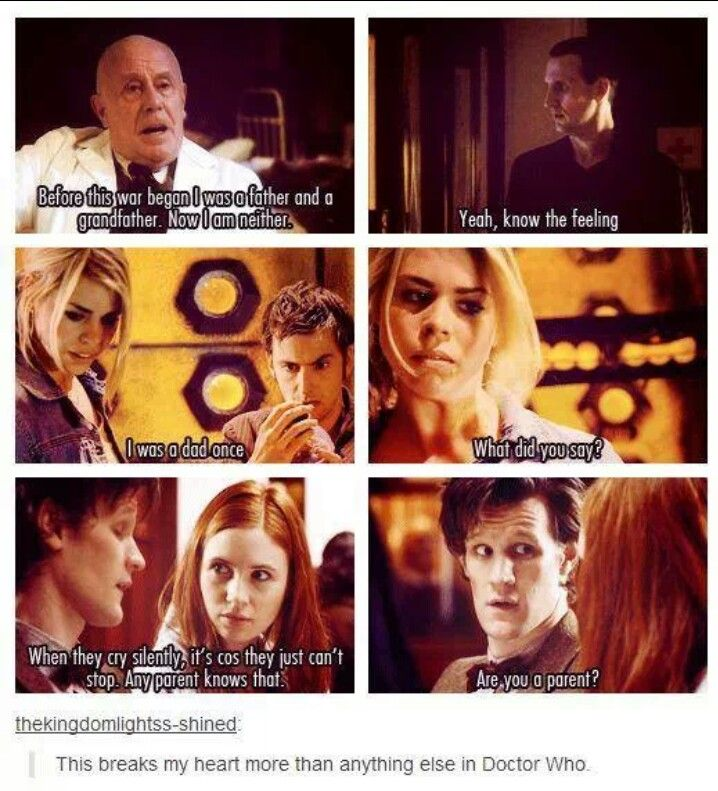 The Doctor was a family man, we sometimes forget but it never ceases to cause me pain when it comes back up