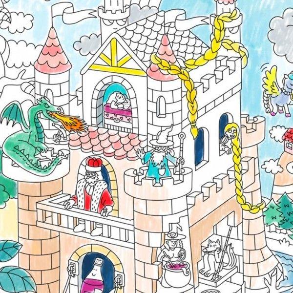 Rouleau De Coloriage Geant Contes Et Feeries Achat Coloriage Omy Cadeau Maestro Coloriage Geant Coloriage Colorier