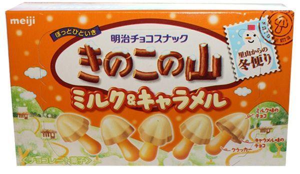 Meiji Kinoko no Yama - milk & caramel