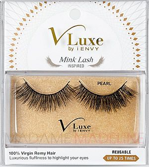 V-LUXE MINK LASH INSPIRED FROM I.ENVY - PEARL feature softly dense flutters for elegant eyes. Made with 100% virgin Remy hair   #kisslashes #madamemadeline