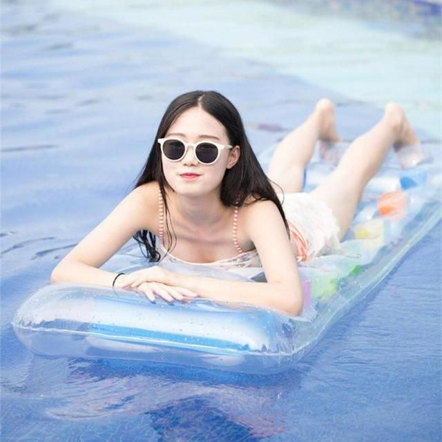 Summer Water Floating Mat Inflatable Island Beach Swimming Pool ...