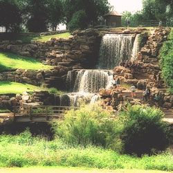 The man made falls in my home town of Wichita Falls, TX.  I miss this place the most!