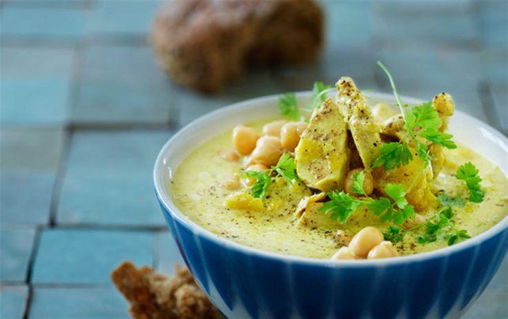 Kokos & lime-suppe