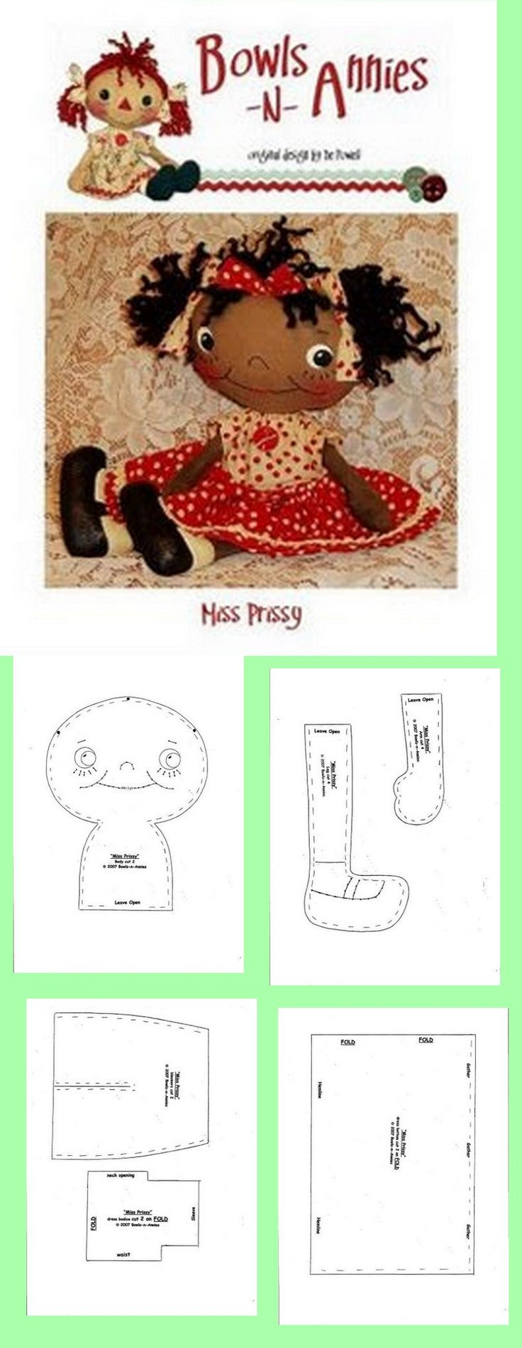 1 of 1  free doll pattern  ...Nims...