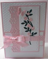 Think Pink breast cancer awareness cardCards Plans, Awareness Cards, Cards Ideas, Breast Cancer Awareness, Cancer Cards, Cards Spr, Pink White, Pink Awareness, Pink Breast