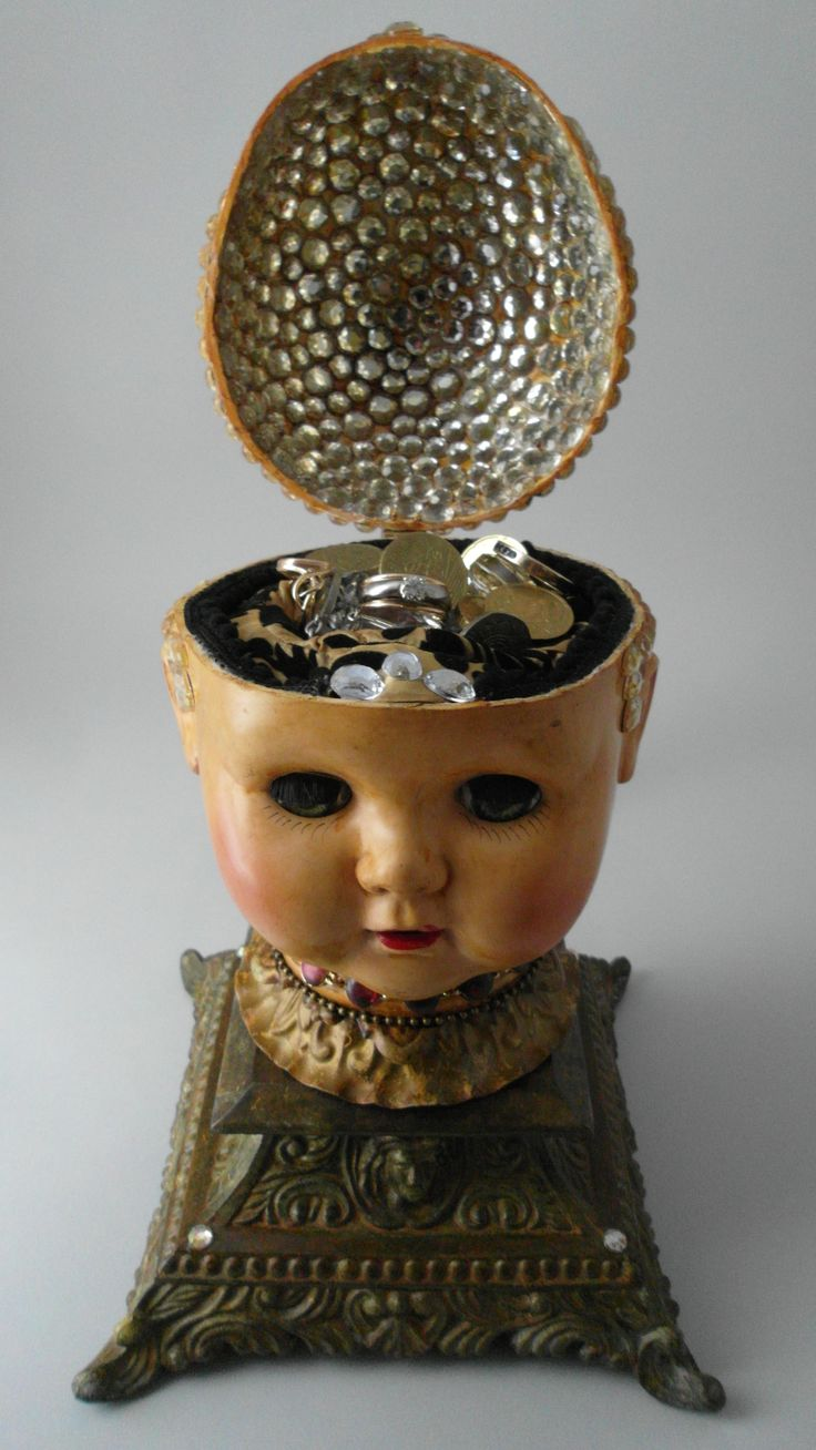 doll jewelry case head