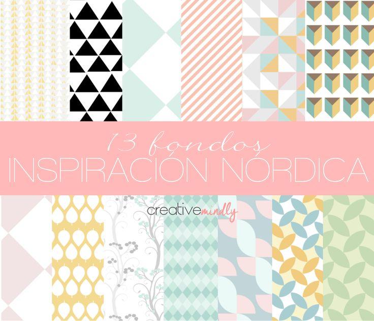 Fondos nórdicos - Nordic Pattern - Creative Mindly