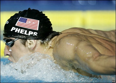 michael phelps olympic swimmer - won over all about 20 medals , almost all gold
