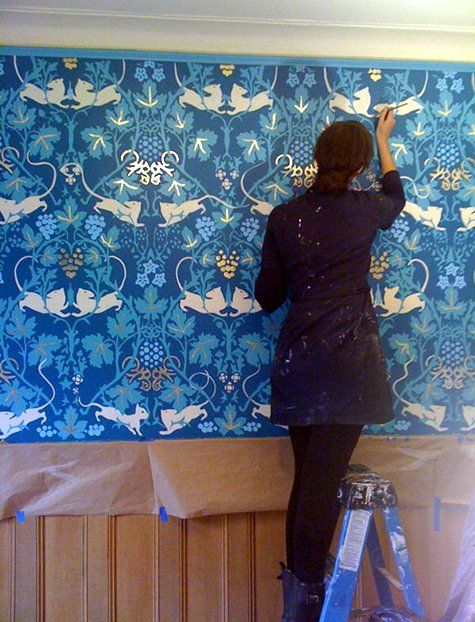 Wonderful Red Start Murals Via Design*sponge. Painting WallpaperCat WallpaperCustom  WallpaperWallpaper MuralsPainted Wall ... Part 3