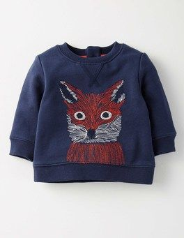 Tokyo Blue Fox Cosy Sweatshirt Boden