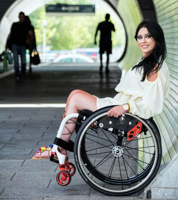 Paraplegic women wheelchairs something is