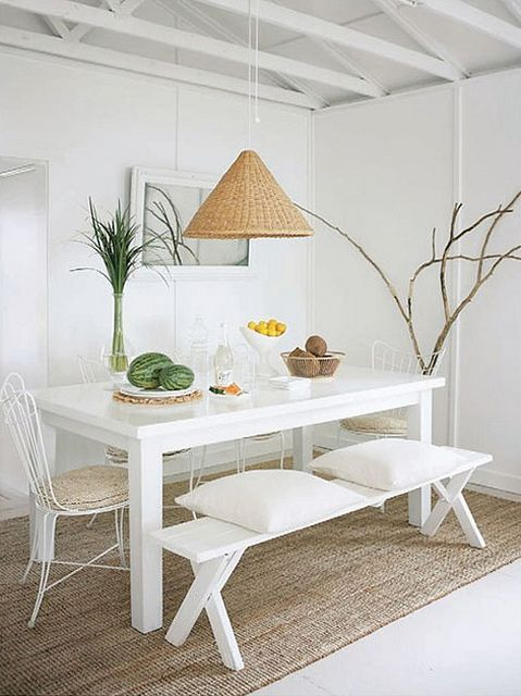 white and rattan (ikea lamp)= simple yet peaceful