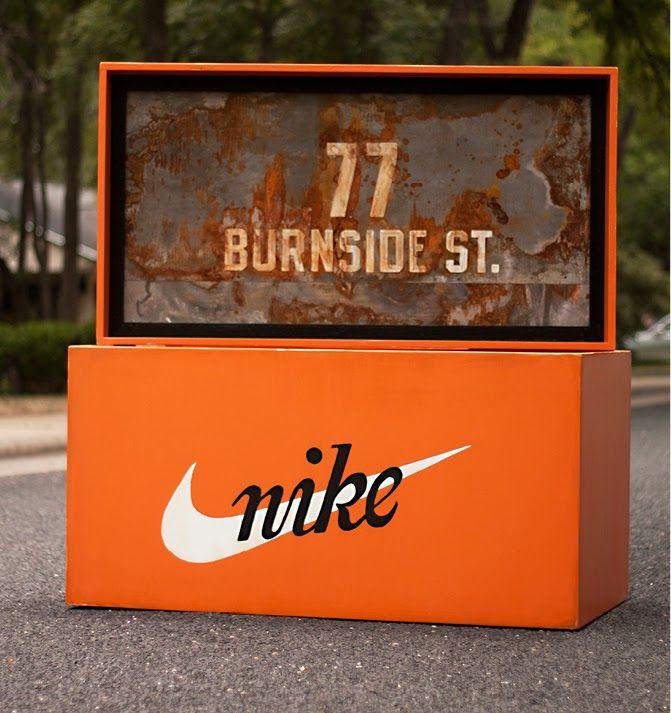 Nike Wooden Shoe Box by Robb Harskamp