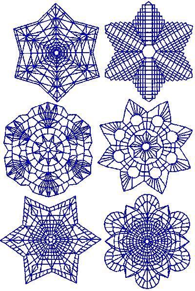 Advanced Embroidery Designs - Snowflake Redwork