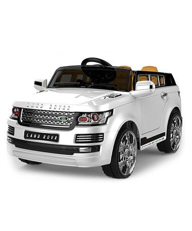 Take a look at this White Luxury SUV Ride-On on zulily today!