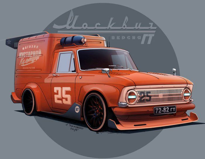 GT версия знаменитого фургона ИЖ.