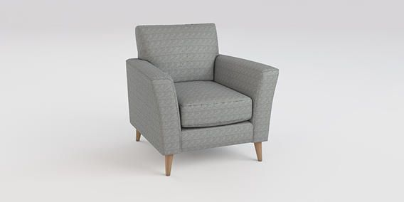 Buy Elliot Chair (1 Seat) Arid Geometric Grey Low Retro Tapered - Light from the Next UK online shop