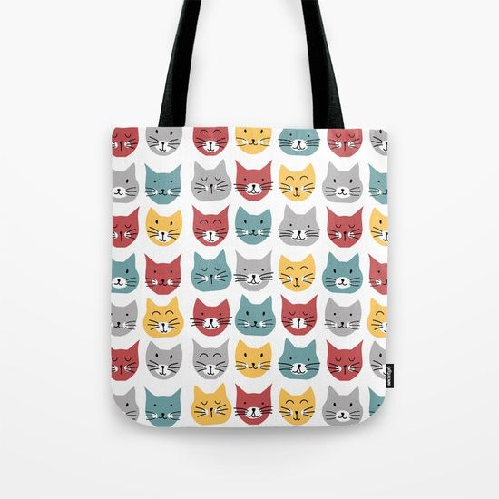 Kittens pattern Tote Bag