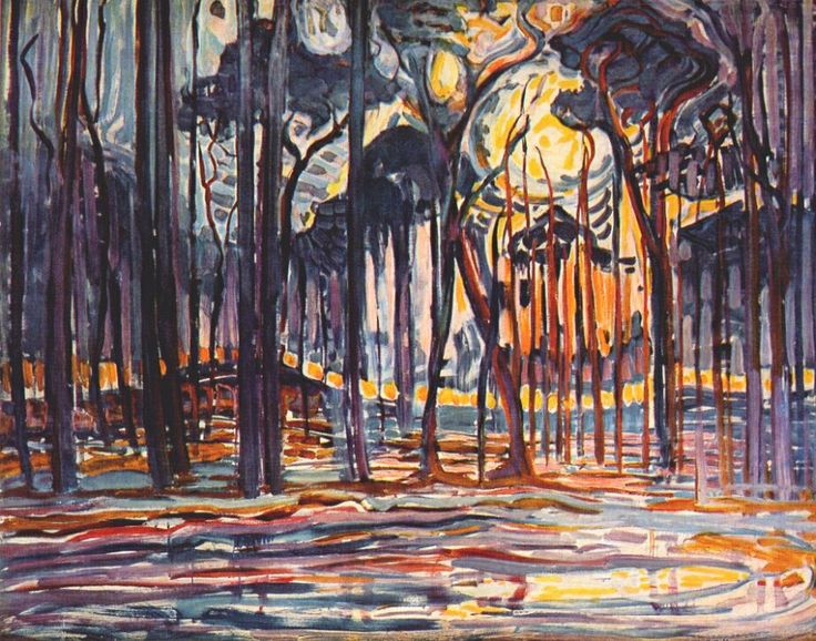 Piet Mondrian (Dutch, 1872-1944) -  Woods near Oele, 1908