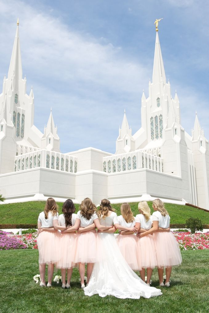 Tanner & Kylie's Wedding | San Diego Temple & Balboa Park » Davello Photography | www.davello.com | cream pink and grey wedding | San Diego Wedding | Southern California Wedding