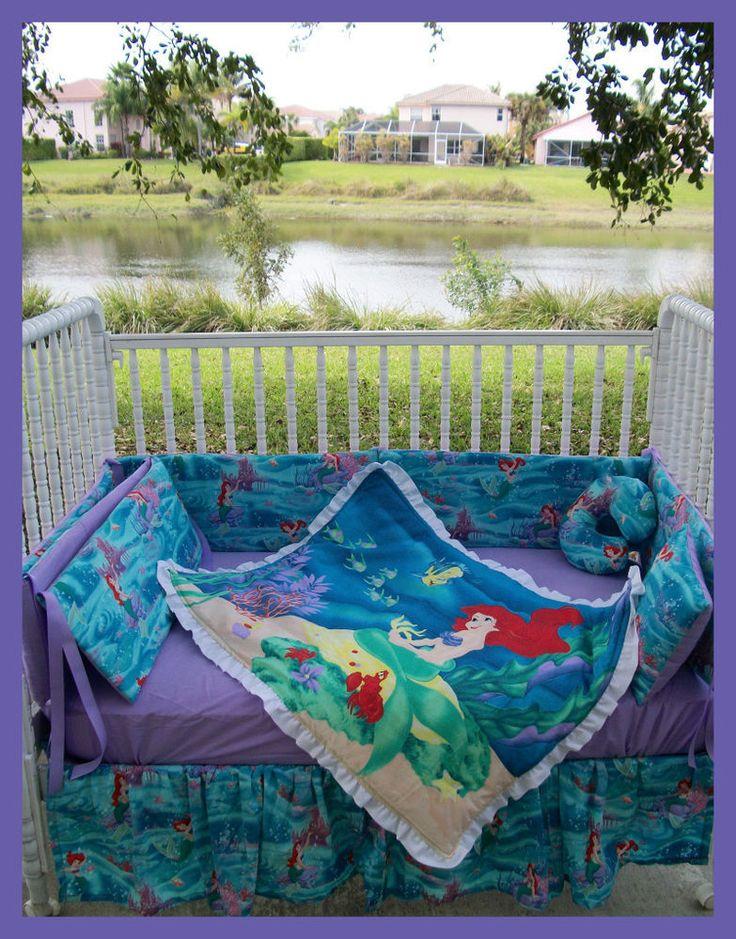New Crib Bedding Set M W The Little Mermaid Ariel Fabric