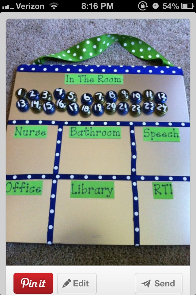 This is an awesome way to collaborate with your students and it helps you keep track of where everyone is going if different students have to go to different places during the day.