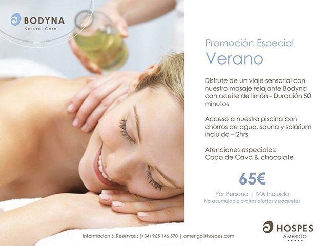 Promoción Verano  Un viaje sensorial: masaje Bodyna con aceite de limón #spa #alicante #hotel #masaje