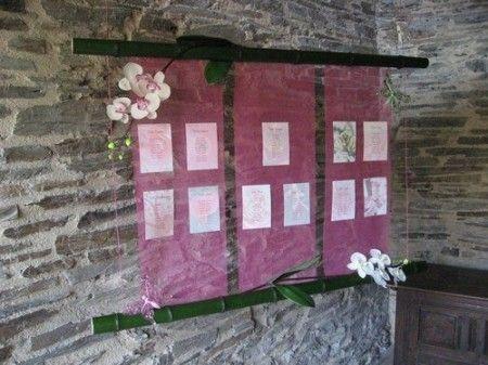 Plan de table rose et marron
