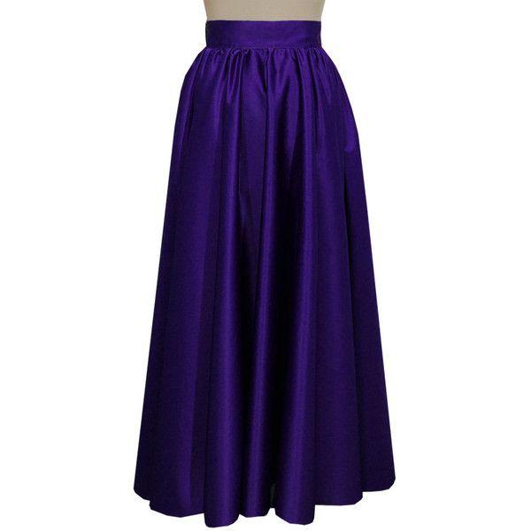 Dark purple plus size skirt Long bridesmaid prom full circle duchess... ($140) ❤ liked on Polyvore featuring skirts, circle skirt, plus size maxi skirt, maxi skirt, long evening skirts and long skirts