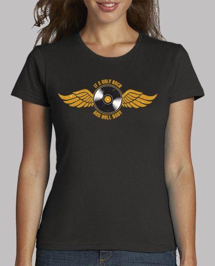 #camiseta rock chica #vinilo #vintage#moda chica #chica rockera#azkena#camiseta vinilo