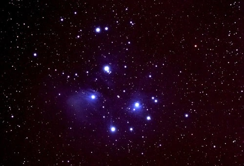"Matariki (the Pleiades)    ""Matariki is the Māori name for the cluster of stars known as the Pleiades. When it rises in the north-eastern skies in late May or early June, it signals to Māori that the New Year will begin. In one tradition, Matariki is the mother surrounded by her six daughters, Tupu-a-nuku, Tupu-a-rangi, Waitī, Waitā, Waipuna-a-rangi and Ururangi.""    Image by Carter Observatory  Photograph by Mark Cannell"