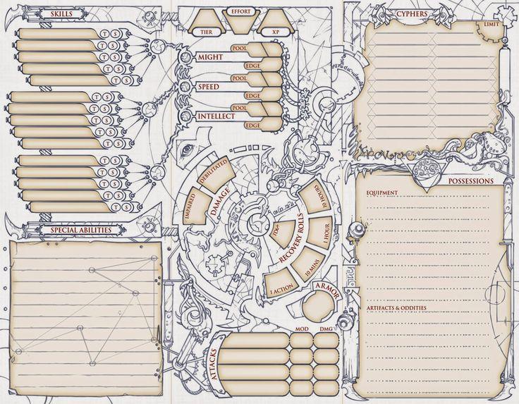 custom 5e character sheet