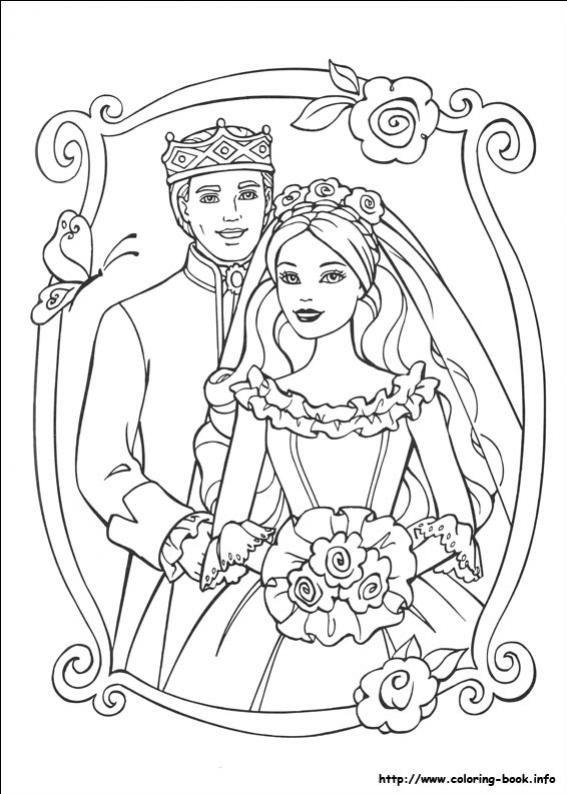 ภาพวาดระบายส Barbie ต กตาบาร บ 30 Princess Coloring Pages Wedding Coloring Pages Barbie Coloring Pages