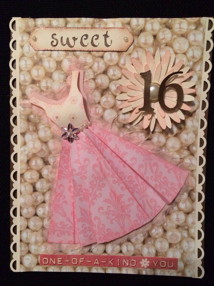 Sweet 16 Card Making Ideas Part - 15: Sweet 16 Birthday Card