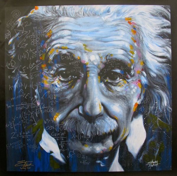 Fred Meyer Einstein Painting Google Search Canvas Wall