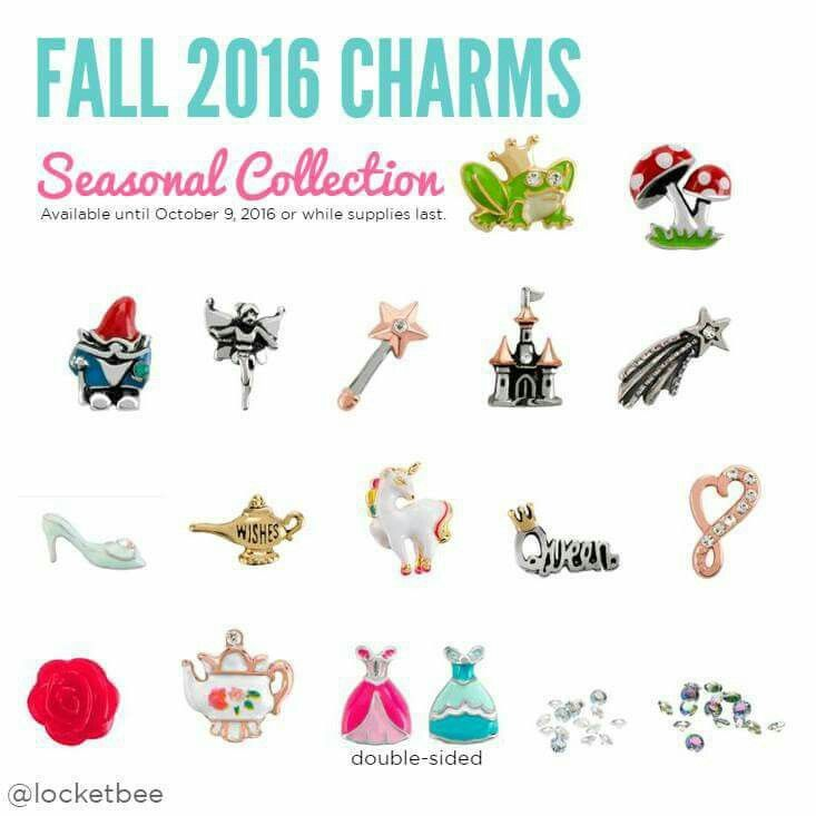 New Origami owl Fall charms. Erodeback.origamiowl.com remember to enter hostess jewelry bar code at checkout 263264