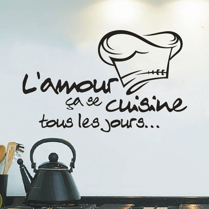 X007 Reomvable Cuisine Stickers French Vinyl Wall Stickers Wallpaper Mural Wall Art  Kitchen Tile Stickers Wall Decal