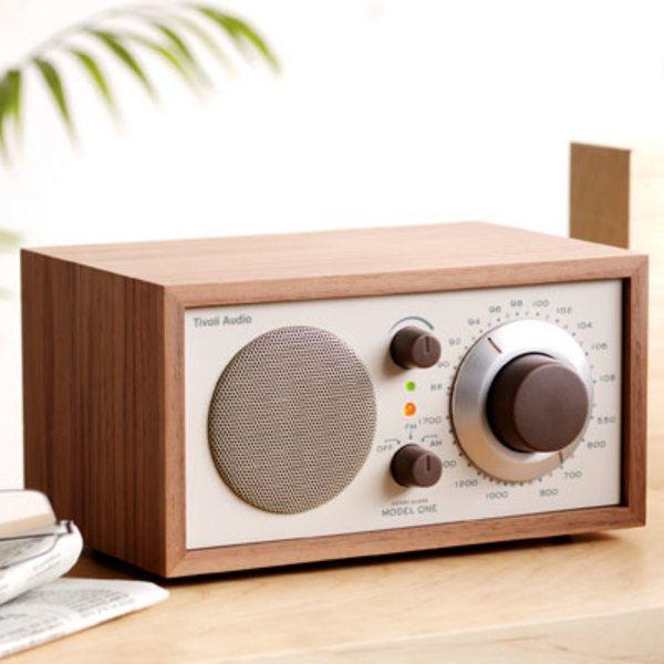 Model One table radio in classic walnut