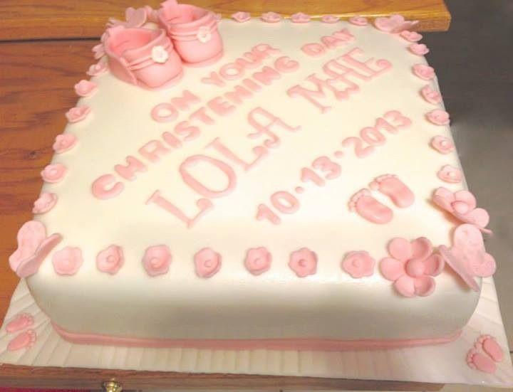 Christening Cake www.facebook.com/scbyamanda
