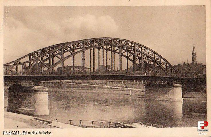 Most Józefa Piłsudskiego (Czwart Most, Drugi Most, Most Tadeusza Kościuszki, pot. Żołw), Kraków - 1942 rok, stare zdjęcia