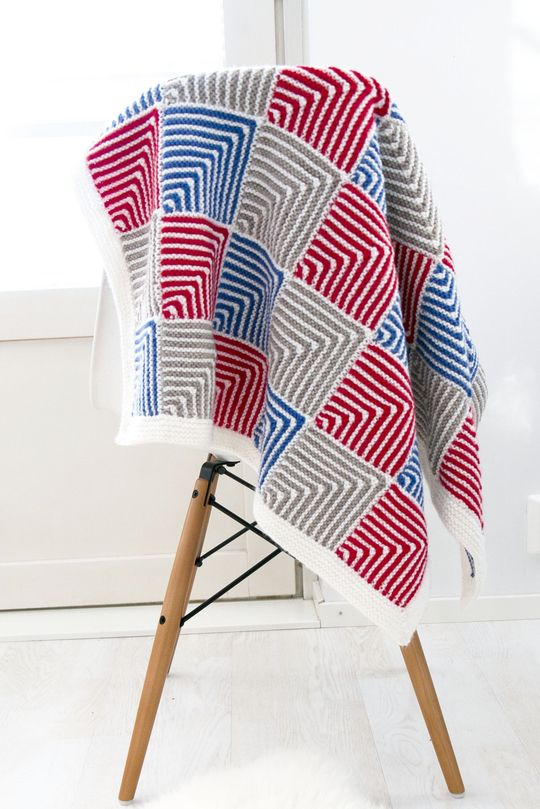 'Marianne throw' made with Novita 7 Brothers yarn #novitaknits #knitting #knit https://www.novitaknits.com/en