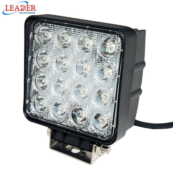 47.23$  Watch now - http://aim4y.worlditems.win/all/product.php?id=32482106050 - 48W High Power Square Car Offroad LED Flood Working Light Off Road Epistar LED Work Lamp 16X3W Bead for Truck ATV Boat LD2227 u9