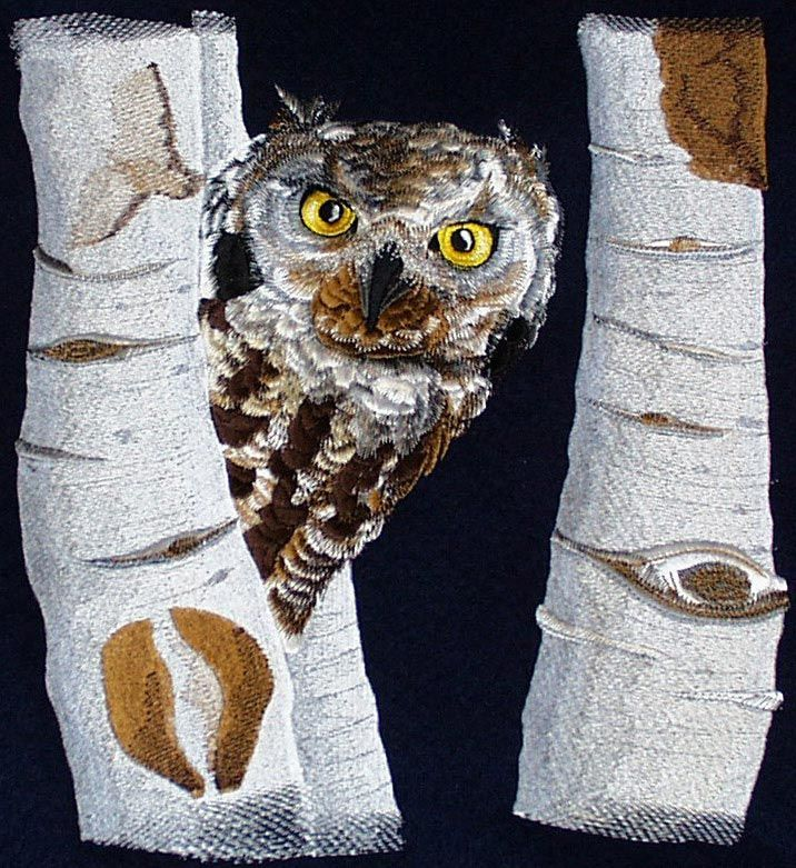 Machine embroidery gt owl owls pinterest