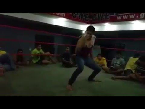 CWE Superstar dancing in ring