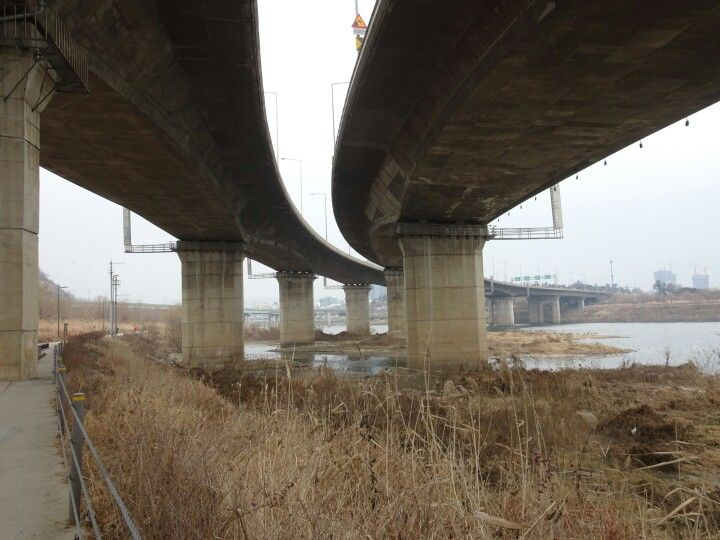 Under the overpass, Han River