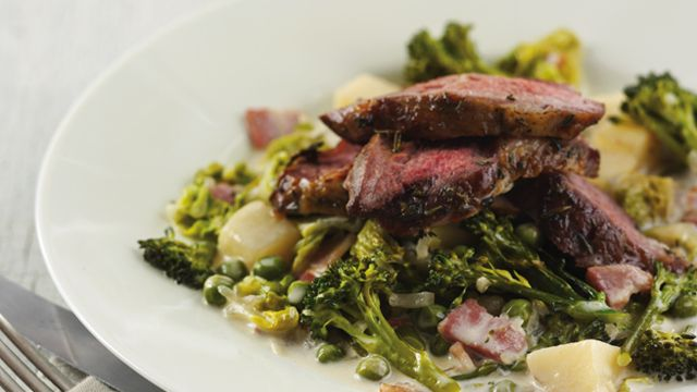 Herby Roast Lamb Neck with Petit Pois a la Francaise - See more at: http://www.booths.co.uk/recipe/herby-roast-lamb-neck-with-petit-pois-a-la-francaise/#sthash.X17sfrn7.dpuf